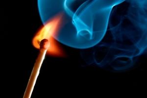 match-flame-smoke